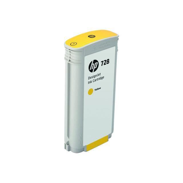 HP Cartouche d'encre 728 - Jaune - 130 ml