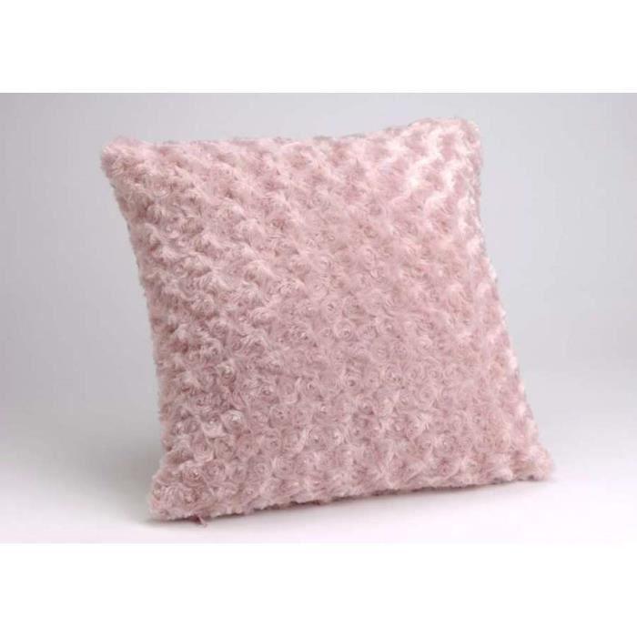 coussin tout doux Coussin Amadeus couleur rose (housse + coussin)   Achat / Vente  coussin tout doux