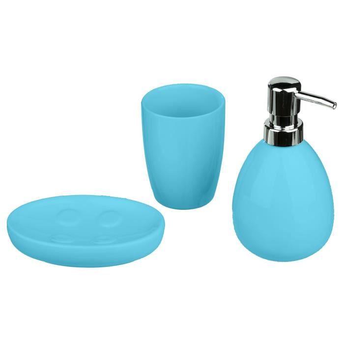 Accessoire Salle De Bain Bleu Turquoise Achat Vente Pas Cher