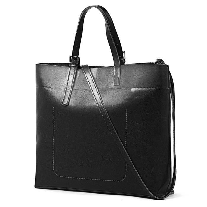 Sac fourre-tout Sac à bandoulière Top Handle véritable sac à main en cuir Messenger sac à bandoulière ZISRM