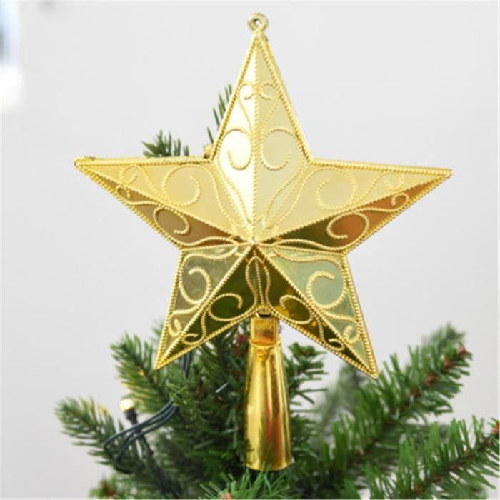 OBJET DÉCORATIF Arbre de Noël Top étoiles Sparkle Hang Noël décora
