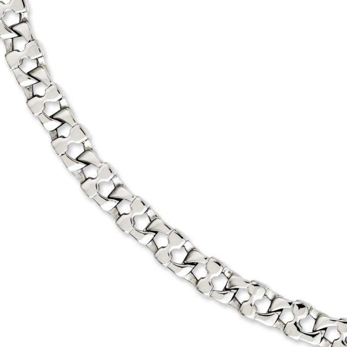 Maillons carrés en acier inoxydable 21 cm + Emplacement Bracelet