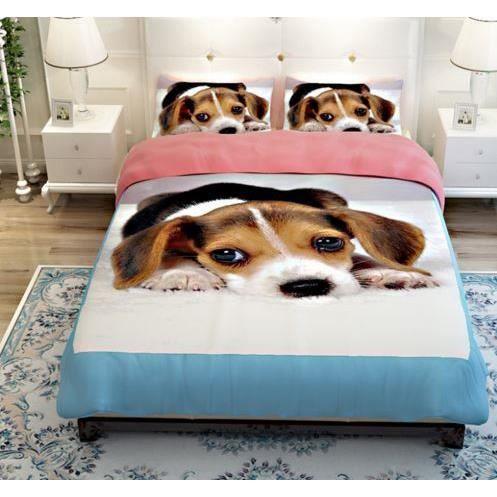 parure de lit 1 personne chien achat vente pas cher. Black Bedroom Furniture Sets. Home Design Ideas