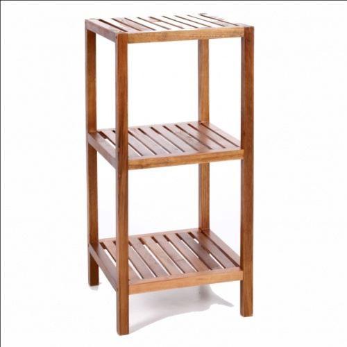 Meuble de rangement salle de bain bambou - Achat / Vente Meuble de ...