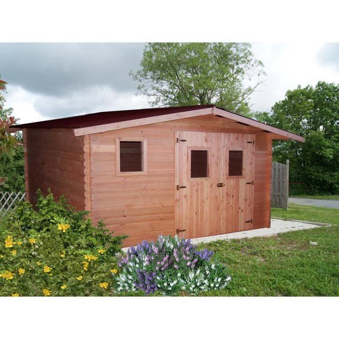 Abri de jardin en bois Douglas (sans entretien) 4x4m - Achat / Vente ...