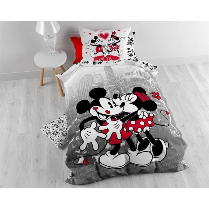 lovely housse de couette mickey adulte #10: mickey et minnie
