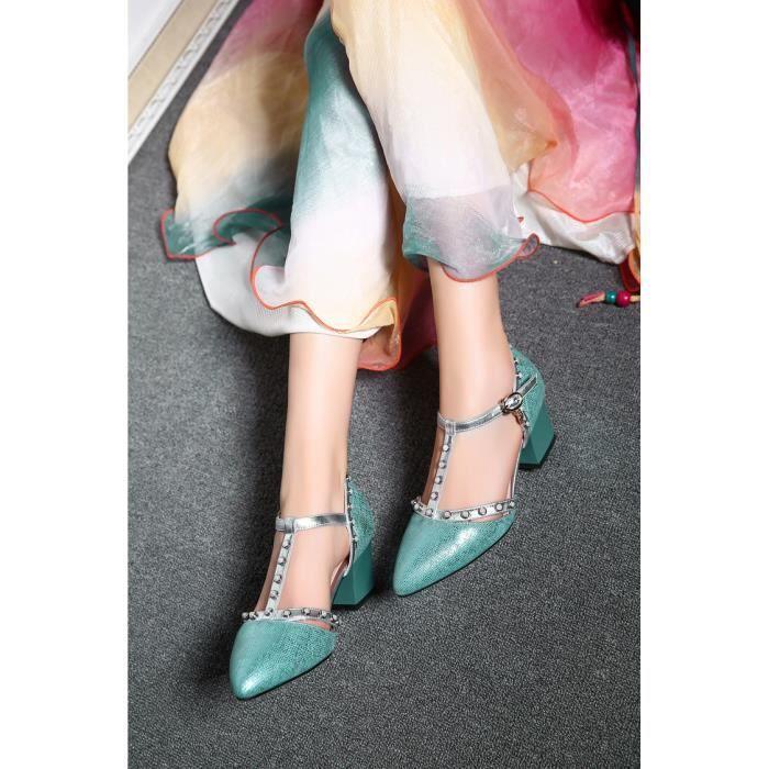 talons hauts-Pure Color Sandales de pompe bout pointu de la femme uJr98FrQ2A