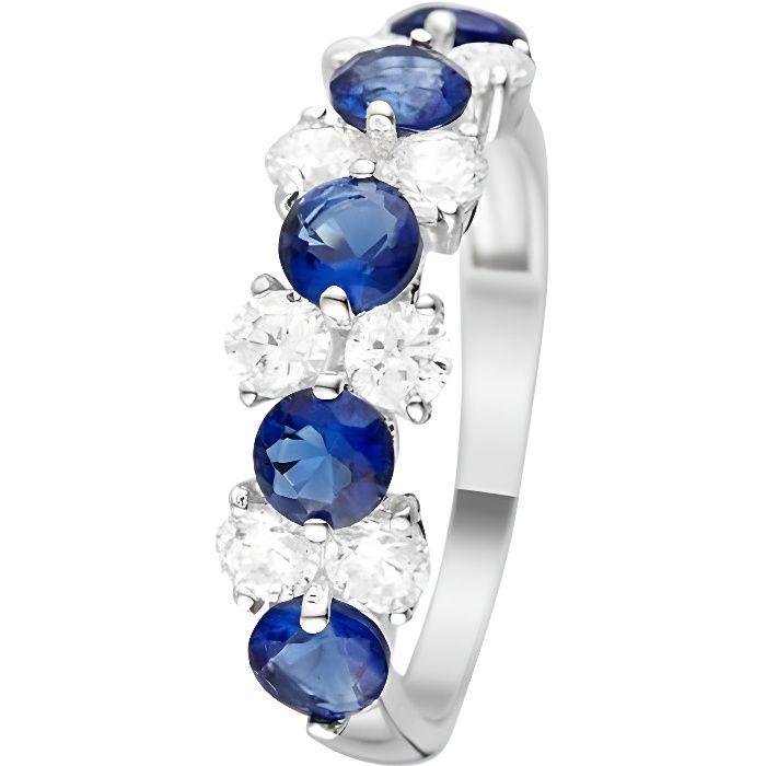 b8eb9222b Mes-bijoux.fr - Bague Femme Océan Or Blanc 375-1000 et Zirconium -  BI91210GZbgv_60