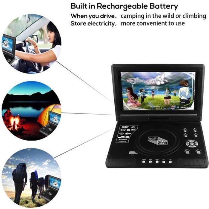 LECTEUR DVD PORTABLE 9,8 pouces Portable Lecteur CD/DVD écran LCD à écr