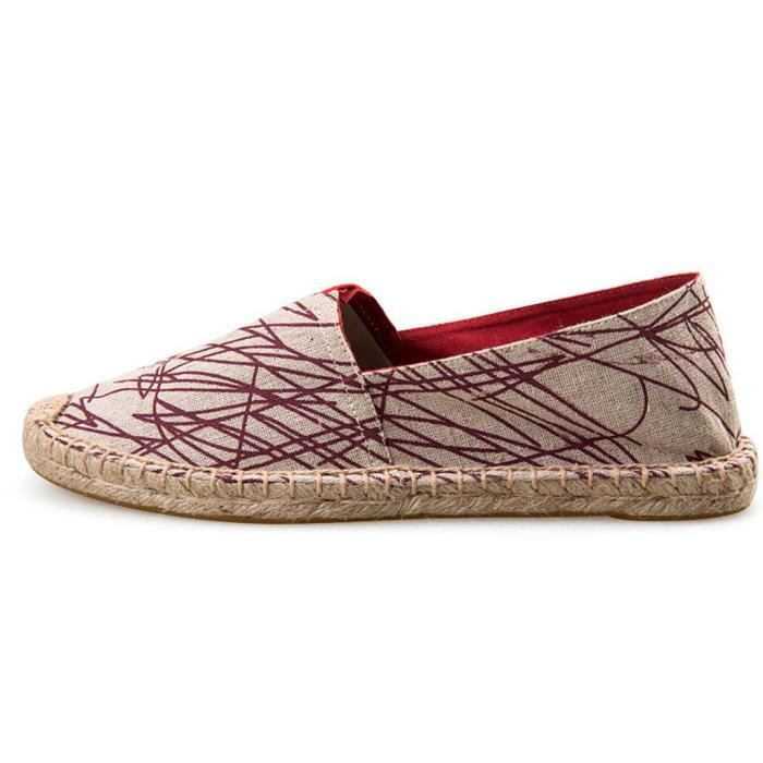 Sneaker Fashion Casual Mocassins Slip-on Chaussures en toile Espadrille Flat VMPYS Taille-37