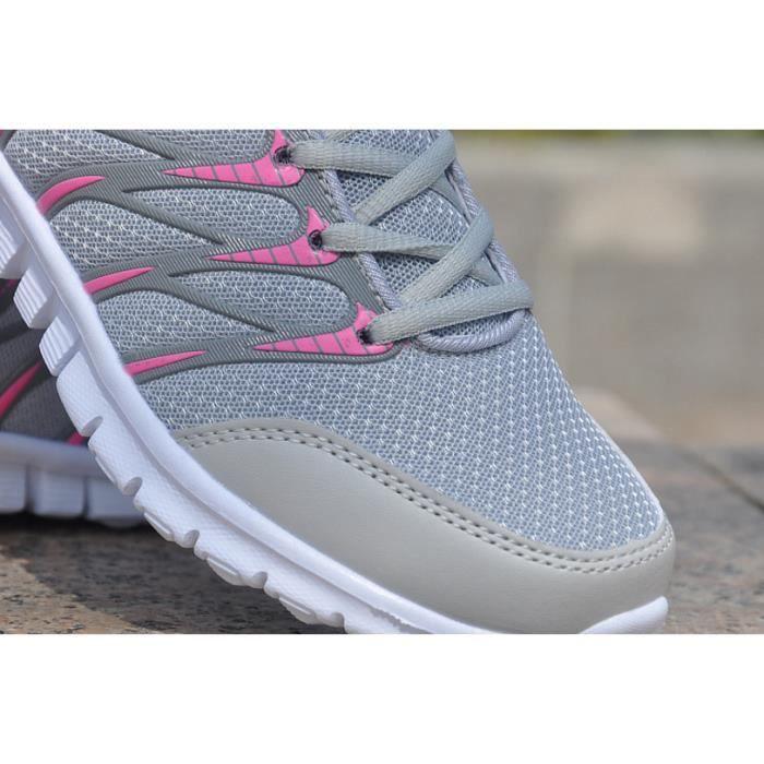 Baskets Chaussures de course respirant à chaussures pour femmes Chaussures de sport décontractées