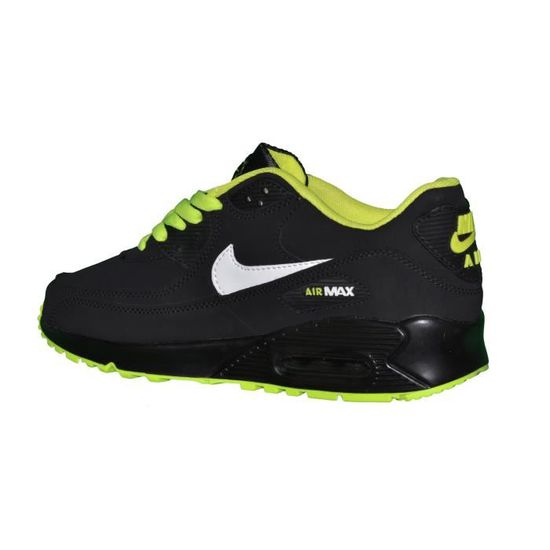 info pour 3be55 b0908 Nike - Basket - Homme - Air Max 90 Essential 73 - Noir Vert Fluo