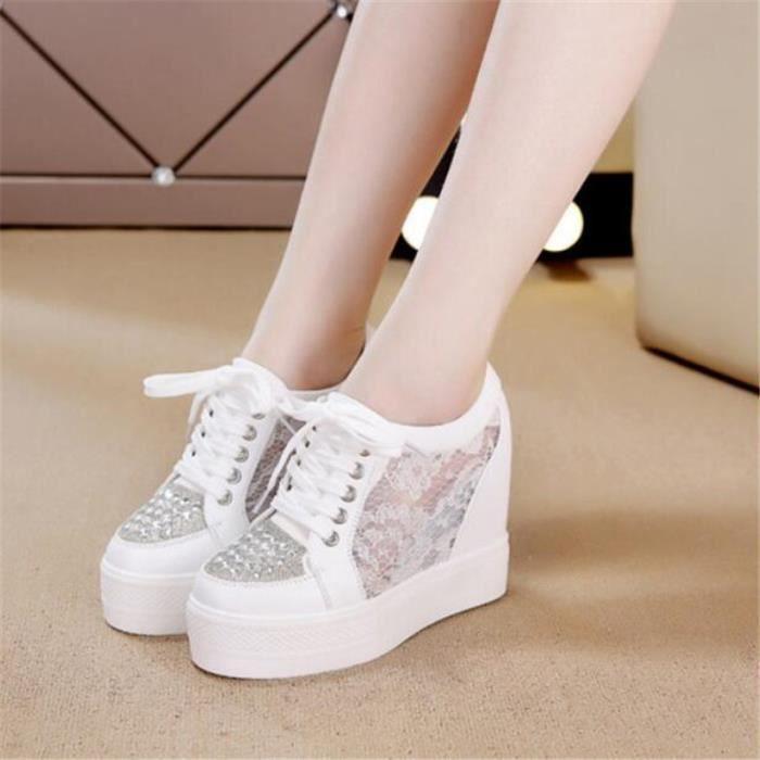 Chaussure femme Talons hauts Nouvelle Mode Luxe lace couleur noir blanc femmes Chaussures Meilleure Qualité Plus Taille 35-40