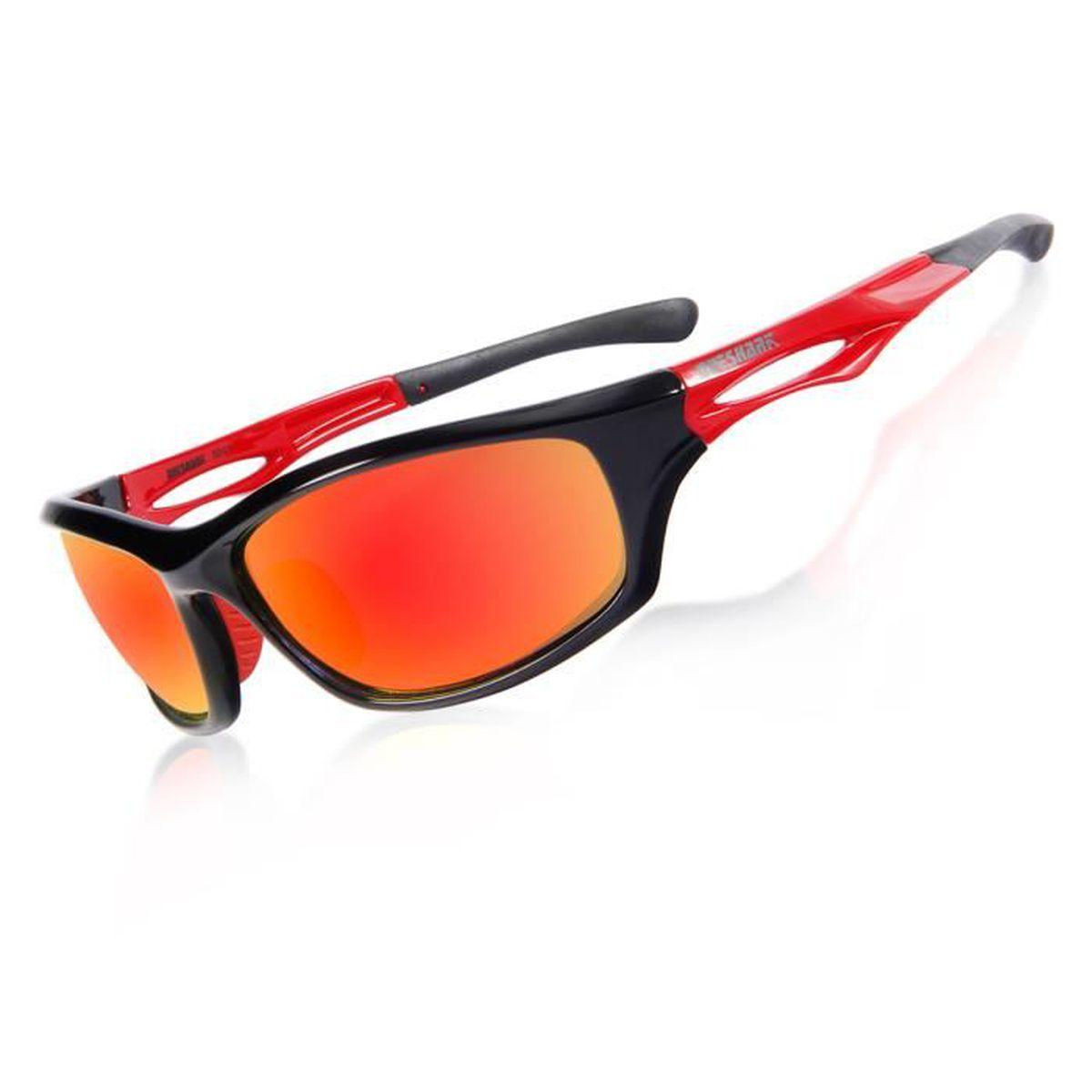 0f50b6fac89263 Queshark Lunettes de soleil sport polarisées pour hommes femmes TR90 ...