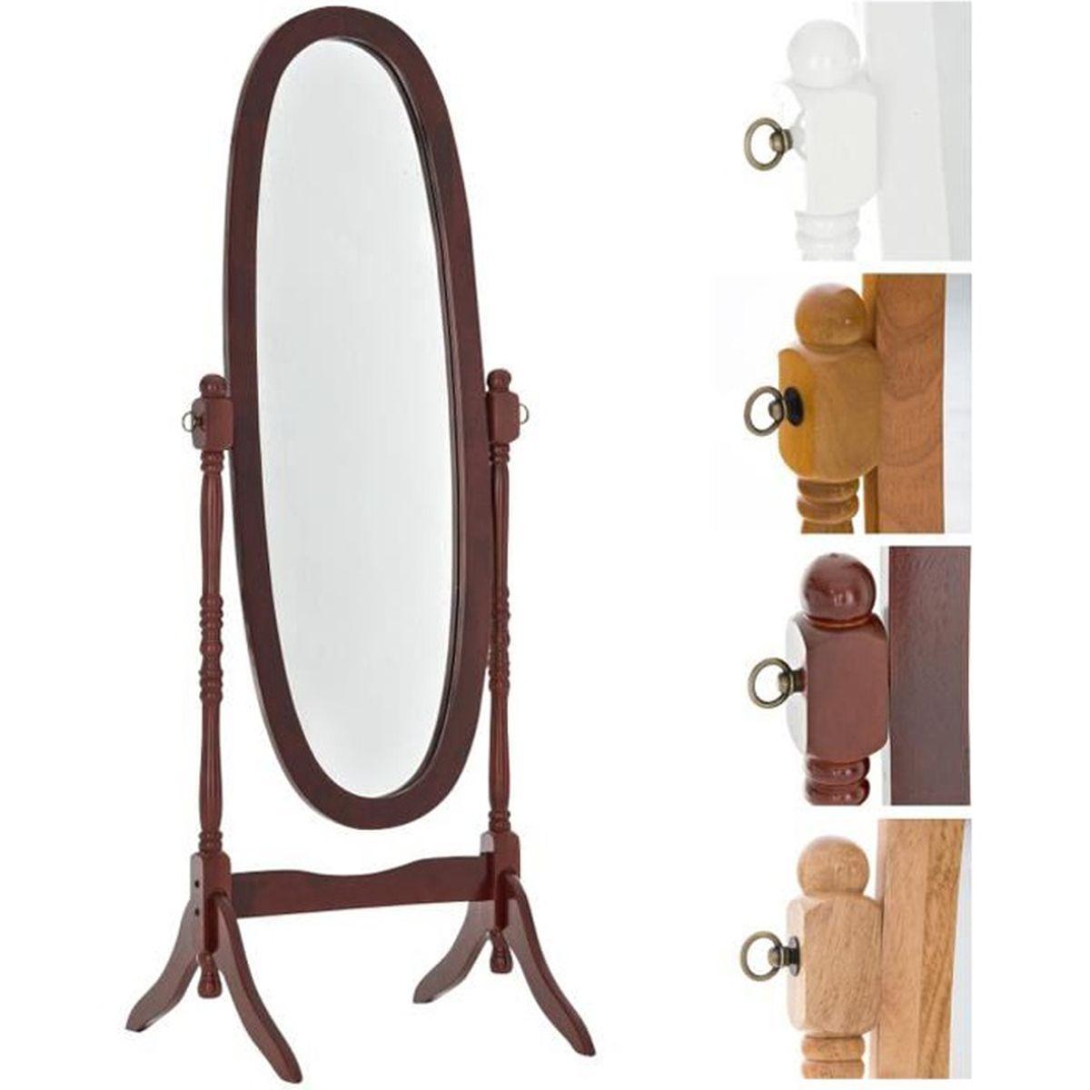 Miroir sur pied en bois achat vente miroir sur pied en for Miroir pied pas cher