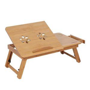 SUPPORT PC ET TABLETTE Bureau Table d'ordinateur pliant Table de lit en B