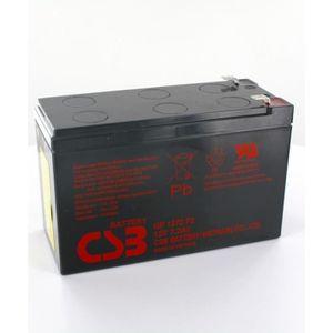 BATTERIE DOMOTIQUE Batterie plomb CSB 12V 7.2Ah GP1272 F2
