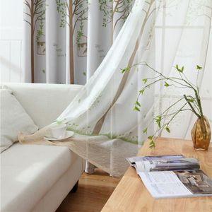 VOILAGE Lot de 2 Curtain Voilages polyester - 100 * 250cm