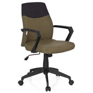 CHAISE DE BUREAU Chaise de bureau ROYAL tissu gris foncé/vert hjh O