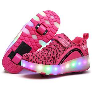 BASKET Enfants Chaussures à Roulettes Garçons Filles Doub