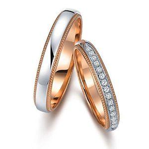 BAGUE - ANNEAU Bague Femme Diamants 0.06 ct  Argent Fin 925-1000