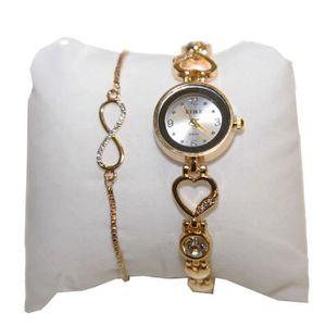 PARURE Coffret cadeaux femme montre strass et bracelet fa