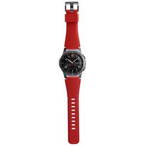 BRACELET MONTRE CONNEC. Samsung bracelet silicone Gear S3 Rouge