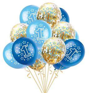 BALLON DÉCORATIF  15Pcs Ballons Anniversaire 1 Ans Baby Shower Ballo