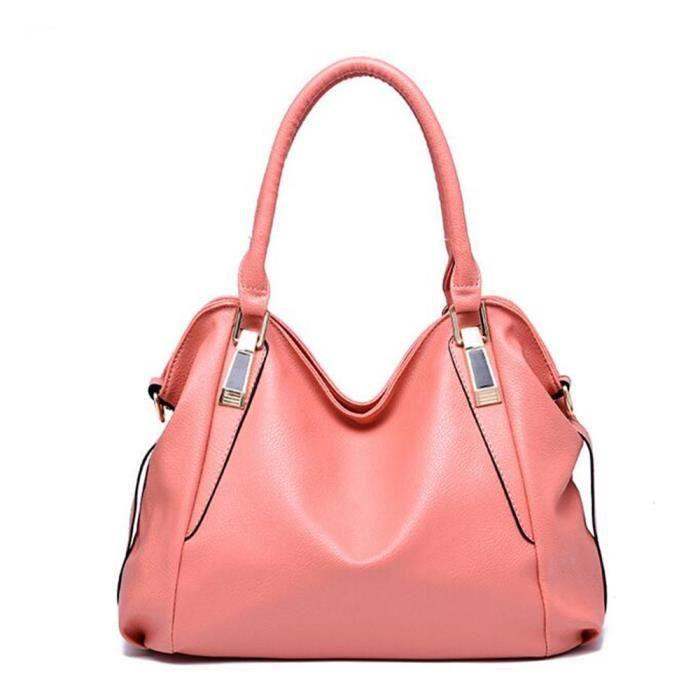 bd7d7c0606 sac cuir femme orange Sac à bandoulière femme sac a main femme de marque  nouveau sac de mode Sacs à main de luxe