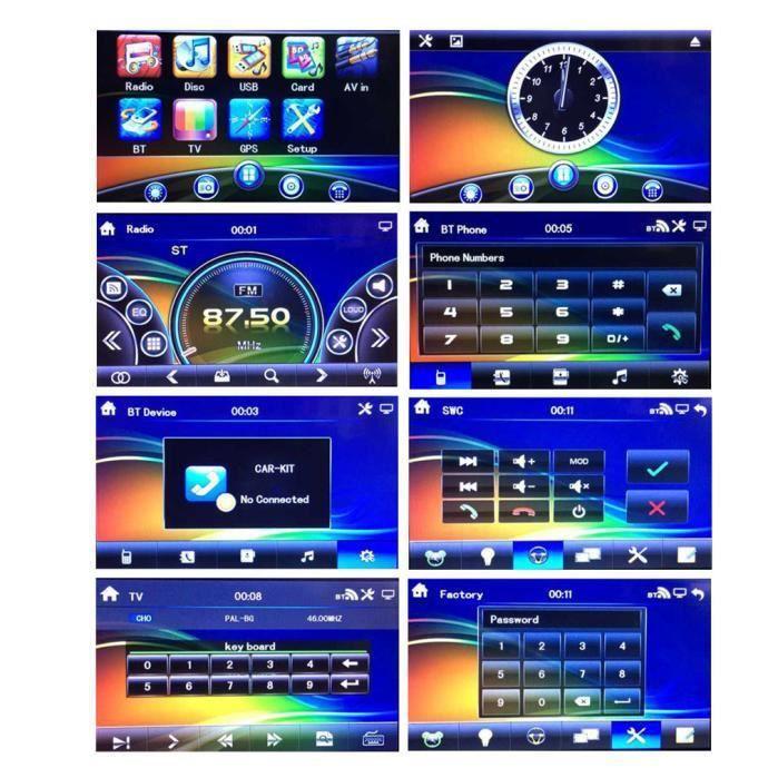 6.5 Double 2din Tactile Voiture Stéréo Cd Lecteur Dvd Bluetooth Usb Sd Am Fm Radio Tv @hanzs45