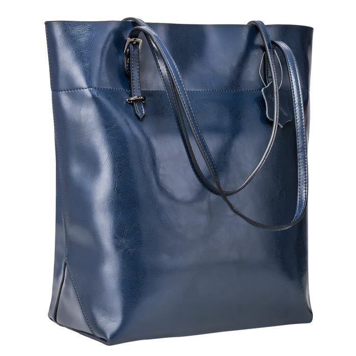 Fourre-tout en cuir véritable vintage sac à main Big grande version améliorée TS2BG