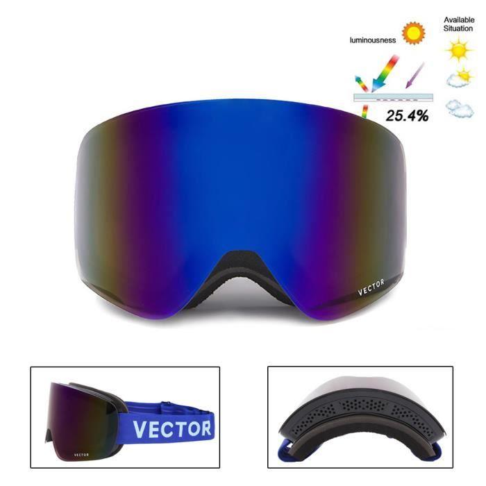 21987adf52 Ski Snowboard Lunettes de motoneige avec aimant Système de changement de  lentille rapide 100% Protection UV400 Lunettes de sécurité