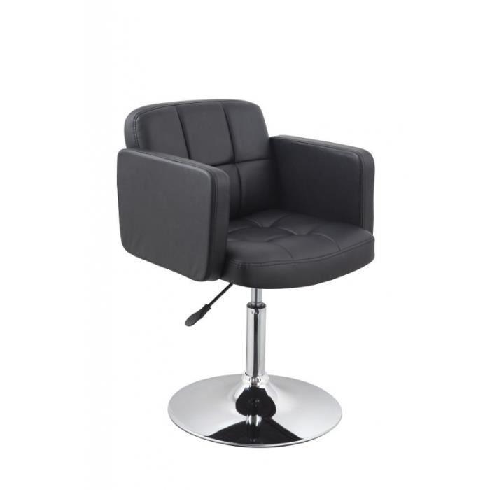 Fauteuil Siège Chaise Design Lounge Carré Pivotant Noir - Siege fauteuil design