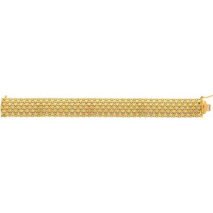 BRACELET - GOURMETTE Bracelet  Femme Maille Paillasson 18 Carats