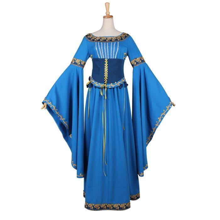 91d652d02eb Déguisement élégant Robe Médiévale Renaissance Robe de Mariee ...