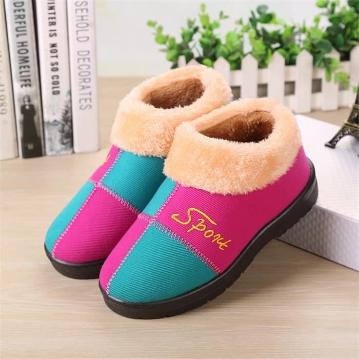 Femme Chausson Haut qualité Plus De Coton Chaussons Durable Confortable Simple Chaussure Série à domicile Taille 36-40 YbXbl