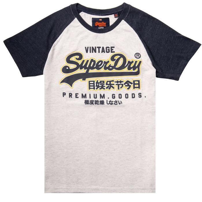 Superdry Raglan marchandises Premium hommes T T-shirt 1AYEPD Taille-XL-3XL 05d19047f2d1