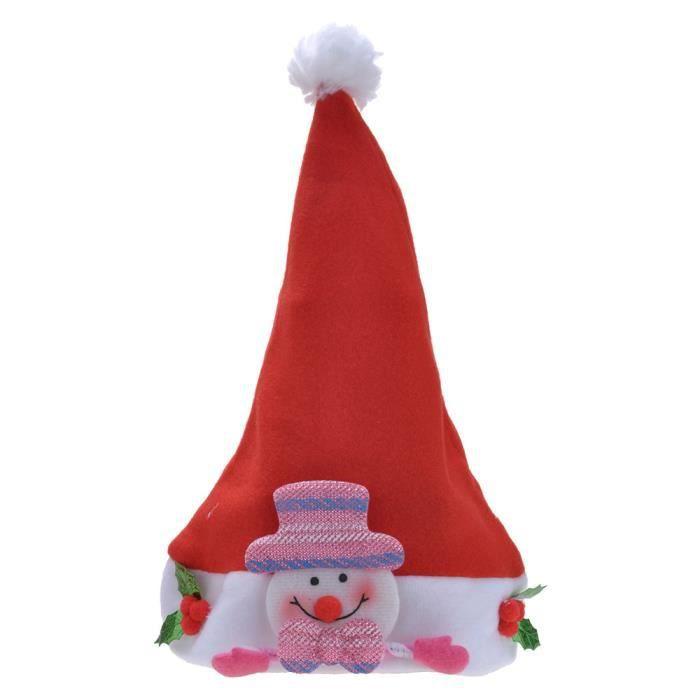 30a465ab6ac22 Chapeau de Noël Bonnet Père Noël pour Adulte-Enfant Pas Cher - bonhomme de  neige