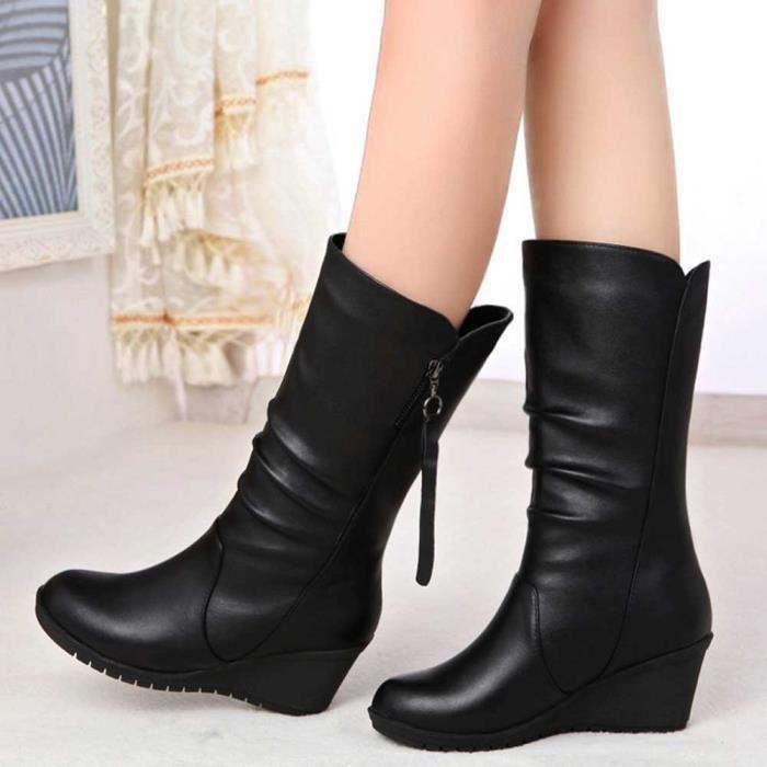 Bottes Automne love30 Talon Dames Cales Chaud Zipper Hiver Cheville Haut Femme noir Chaussures Beguinstore g5ZqvwnAOv