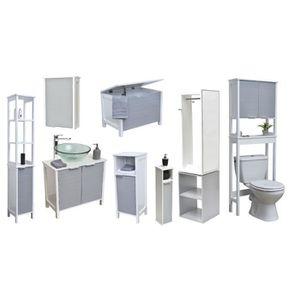 armoire pharmacie salle de bain achat vente pas cher. Black Bedroom Furniture Sets. Home Design Ideas