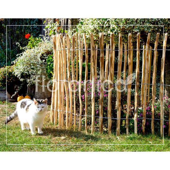 Piquets en bois - Clôture à lattis en bois de noisetier imprégné - L ...
