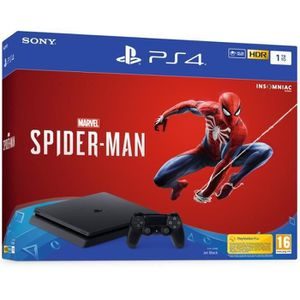 CONSOLE PS4 PS4 1 To Noire + Marvel's Spider-Man Edition Stand
