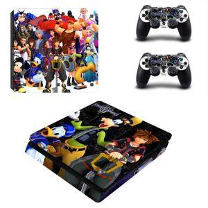 STICKER - SKIN CONSOLE Anime Kingdom Hearts 3 Family PS4 Slim Consoles Co