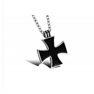 d44bd65c02f2ec SAUTOIR ET COLLIER collier croix de malte en acier