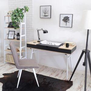 SECRÉTAIRE Bureau design - VISBY - 120 cm - noir / effet chên
