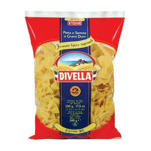 PÂTES ALIMENTAIRES DIVELLA 85 farfalle cooking 12 minutes 500 grams I