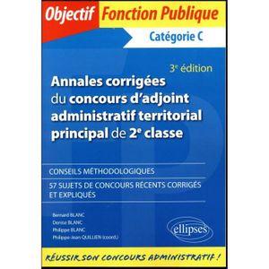 3e5ebd668a7 LIVRE CARRIÈRE EMPLOI Livre - annales corrigées du concours d adjoint ad