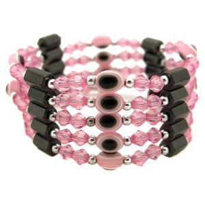 BRACELET - GOURMETTE bracelet collier magnetique aimant femme rose