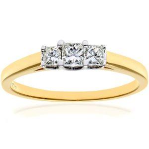 BAGUE - ANNEAU Revoni Bague Diamant Or Jaune 750° Femme  Poids du