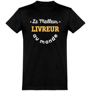 T-SHIRT Le meilleur livreur au monde t-shirt humour métier